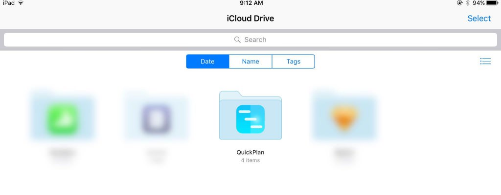 Synchronization via iCloud Drive | QuickPlan for iOS