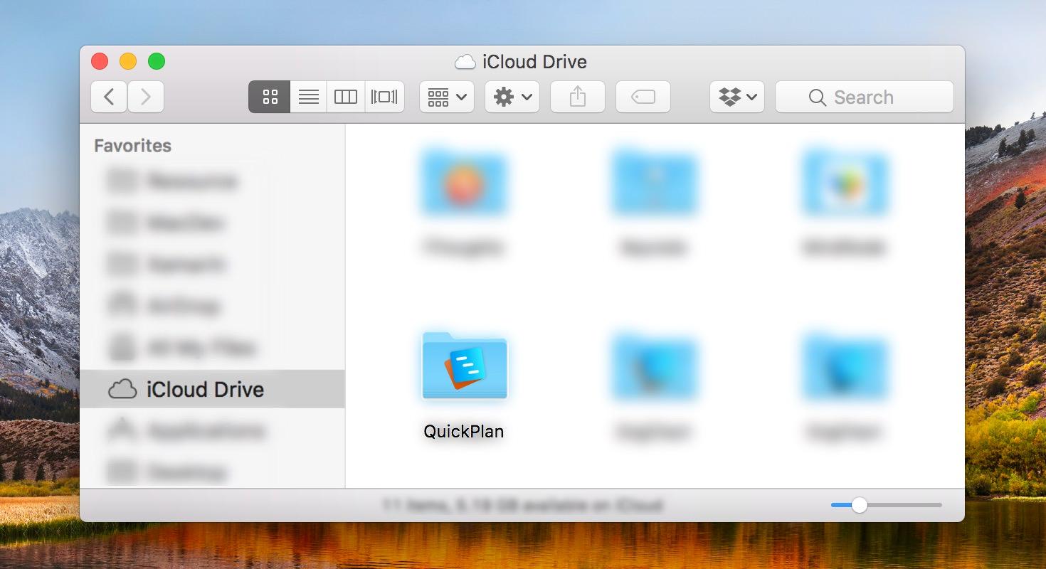 Quick Start - Sync via iCloud Drive | QuickPlan